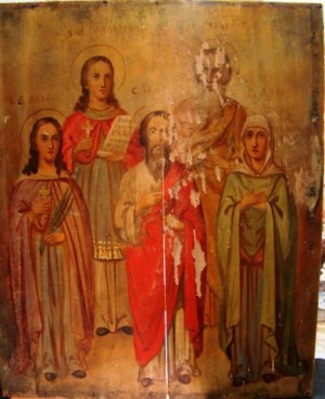 Арт 54-13 Икона святых 19 век, 10.000 рублей