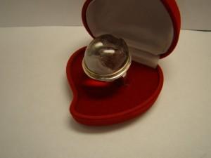 Кольцо с кварцем, 925 пробы, масса 21гр, размер 20, 3500 рублей