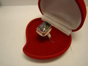 Кольцо с кварцем, 925 пробы, масса 8.05гр, размер 19, 2100 рублей