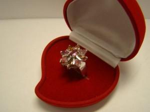 Кольцо с турмалинами, 925 пробы, масса 10.04гр, размер 16.5, 3500 рублей