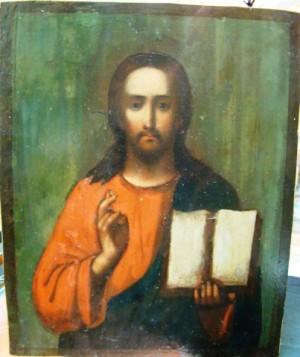 Арт 273-12 Спас. Икона живописная масло, дерево, начало 20 века, 19.000 рублей