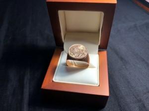 Арт 371-17 Кольцо  печатка, 583 проба, размер 22, масса 9.39гр. 16.433 рублей