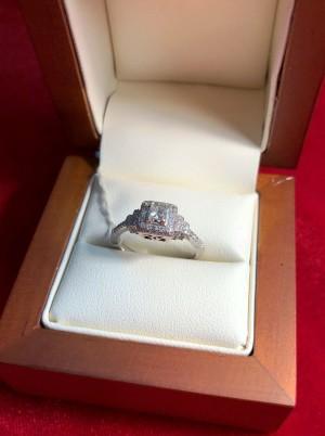 Кольцо с бриллиантами, 585 проба, размер 19. 50.000 рублей