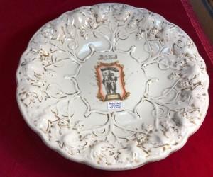 Арт 329-16 тарелка ВСХВ, Дулево, фарфор, 1954 год. 3000 рублей