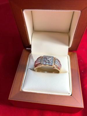 Арт 73-18 Кольцо с бриллиантами, 585 проба, размер 21.5 масса 6.95гр. 15.500 рублей