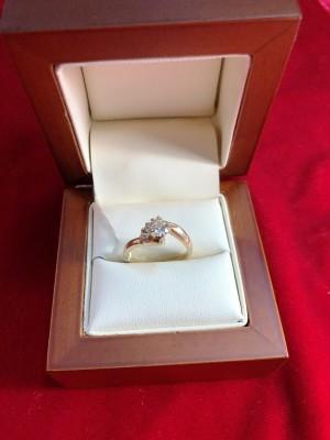 Арт 4-15 Кольцо с бриллиантами, 585 проба, размер 17 масса 3.56гр. 15.000 рублей