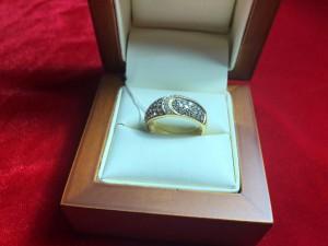 Арт 96-18 Кольцо с бриллиантами, 750 проба, размер 17 масса 4.40гр. 31.000 рублей