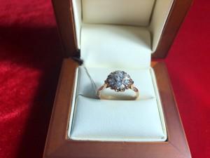 Арт 150-18 Кольцо с бриллиантами, 583 проба, размер 17.5 масса 3.16гр. 45.000 рублей