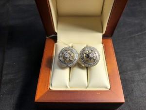 Арт 201-18 Серьги с бриллиантами, 585 проба, масса 7.49гр. 28.000 рублей