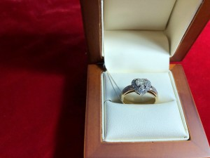 Арт 167-18 Кольцо с бриллиантами, 585 проба, размер 17 масса 4.81гр. 62.000 рублей