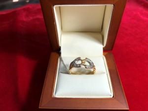 Арт 131-18 Кольцо с бриллиантами, 750 проба, размер 18 масса 5.32гр. 16.000 рублей
