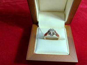Арт 285-18 Кольцо с бриллиантом, 583 проба, размер 18,5 масса 5.56гр. 75.000 рублей