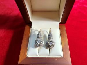 Арт 314-18 Серьги с бриллиантами, 585 проба, масса 7.42гр. 54.000 рублей