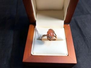 Арт 54-19 Кольцо с сердоликом, 583 проба, размер 18, масса 3.49гр. 6457 рублей