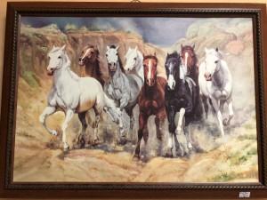 "Арт 326-18 Картина, ""табун лошадей"".  700 рублей"