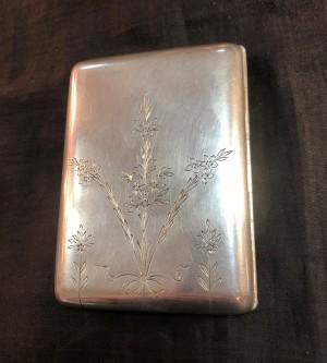 Арт 102-19 Портсигар, серебро 84 пробы, вес 151.71гр.  12.000 рублей