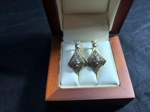 Арт 178-19 Серьги с бриллиантами, 585 проба, масса 7.18гр. 16.500 рублей