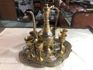 Арт 227-19 Набор из серебра, 8 предметов. вес 981,20 гр.  44.000 рублей