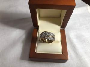 Арт 192-19 Кольцо с бриллиантами, 585 проба, размер 18, масса 14.64 гр. 78.000 рублей