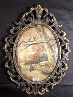 Арт 256-19 Шелкография, рамка бронза, 3800 рублей