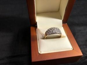 Арт 315-19 Кольцо с бриллиантами, 585 проба, размер 21,5, масса 3.91 гр. 57.000 рублей