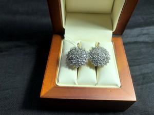 Арт 352-19 Серьги с бриллиантами, 750 проба, масса 8.46гр. 180.000 рублей
