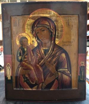 Арт 355-18 Икона писанная, дерево, масло, реставрация. Троеручица  23.000 рублей