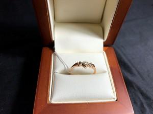 Арт 419-15 Кольцо с бриллиантами, 585 проба, размер 17,5, масса 1.80 гр. 6000 рублей