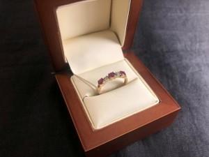 Арт 126-20 Кольцо с бриллиантами и рубинами, 585 проба, размер 17,5, масса 2.89 гр. 15.000 рублей