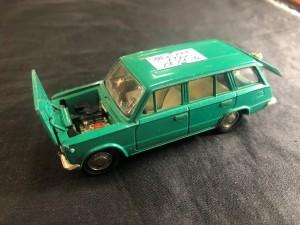 Арт 198-20 Машинка коллекционная, ВАЗ 2102 зеленого цвета, СССР 1970 год. 1700 рублей