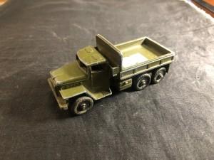 Арт 196-20 Игрушка детская, военная техника грузовик (металл) зеленого цвета, СССР 1980 год. 500 рублей