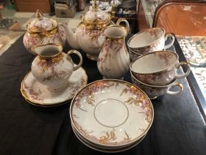 Арт 51-21 Чайный сервиз не полный, фарфор, Дулёво, 14 предмета. (есть сколы) 4500 рублей
