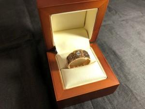 Арт 025338-21 Кольцо с бриллиантом, 585 проба, размер 21, масса 6.63 гр. 23.205 рублей