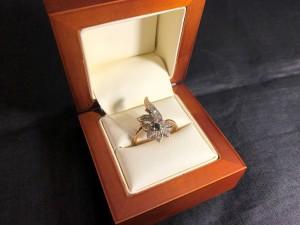 Арт 024214-21 Кольцо с бриллиантами, 585 проба, размер 18,5 масса 4.69 гр. 25.500 рублей