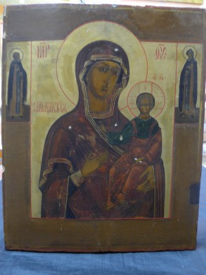 Арт 14-16 Икона Смоленская божья мать,  конец 18 начало 19 века. 45.000 рублей
