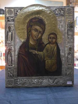 Арт 44-16 Икона 19 века Божья мать. 9900 рублей