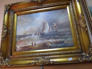 """Европа картина """"Морской пейзаж"""" Масло, дерево, без подписи. 1990г. конец  20го века. 36,000 рублей"""