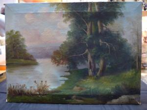 Пейзаж холст/масло 29,5 см х 39 см. Автор Sianni 1я половина 20го века 3.500 рублей