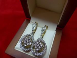 Арт 379-16 Серьги с бриллиантами, 750 проба, масса 11.75 гр. 87.500 рублей