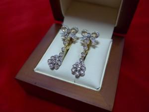 Арт 465-16 Серьги с бриллиантами, 585 проба, масса 5.54 гр. 42.000 рублей