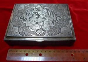 Арт 353-16 Шкатулка, серебро 875 пробы, вес 638гр. Пакистан. 38,000 рублей