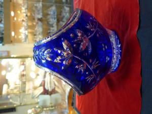 Арт 506-16 Ваза хрустальная, синия  'корзинка' СССР 1970г. 7000 рублей