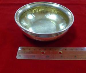 Арт 25-16 Полоскательница, серебро 84 пробы, вес 155.08гр.  8900 рублей