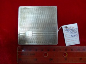 Арт 464-14 Пудреница, серебро 875 пробы, вес 91.25гр.  5000 рублей