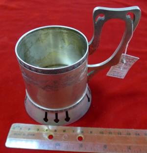 Арт 507-14 Подстаканник, серебро 84 пробы, вес 162.4гр.  66.000 рублей