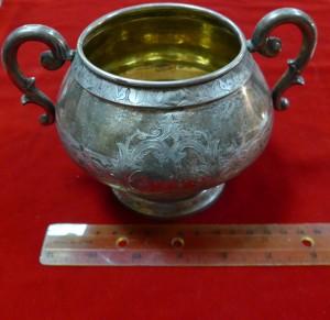 Арт 293-12 Сахарница, серебро, вес 248.38гр.  21.100 рублей