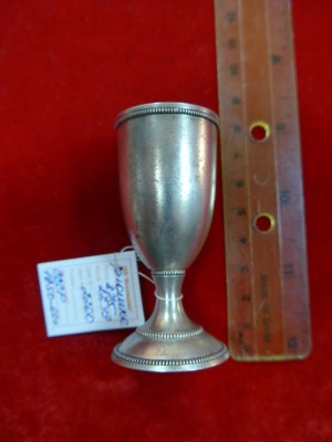 Арт 465-16 Рюмка, серебро 875 пробы, вес 27.49гр.  2200 рублей