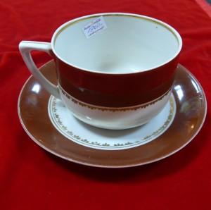 Арт 457-15 Чайная пара, фарфор, Вербилки 1930-40 год. 1900 рублей