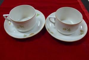 Арт 501-15 Чайная пара, фарфор, 1930-40 год. 1500 рублей