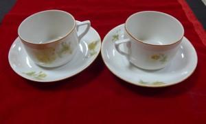 Арт 501-15 Чайная пара, фарфор, 1930-40 год. 1000 рублей